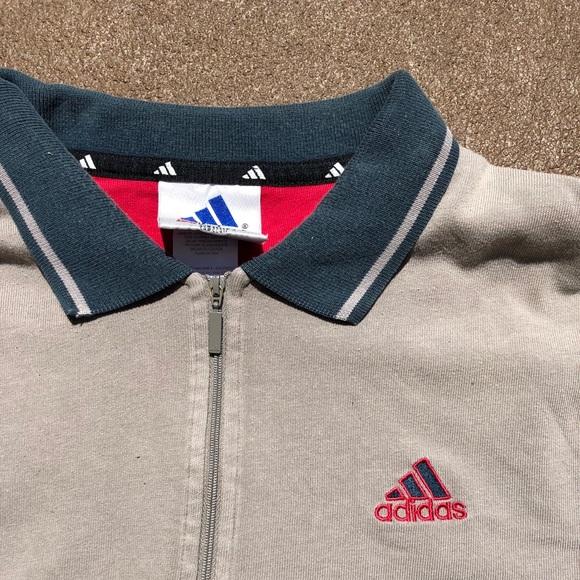 2e025fc8c0ac adidas Other - Vintage Adidas Short Sleeve zip up Polo T-shirt